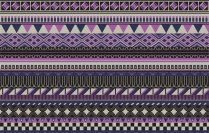 Aztec pattern purple and navy